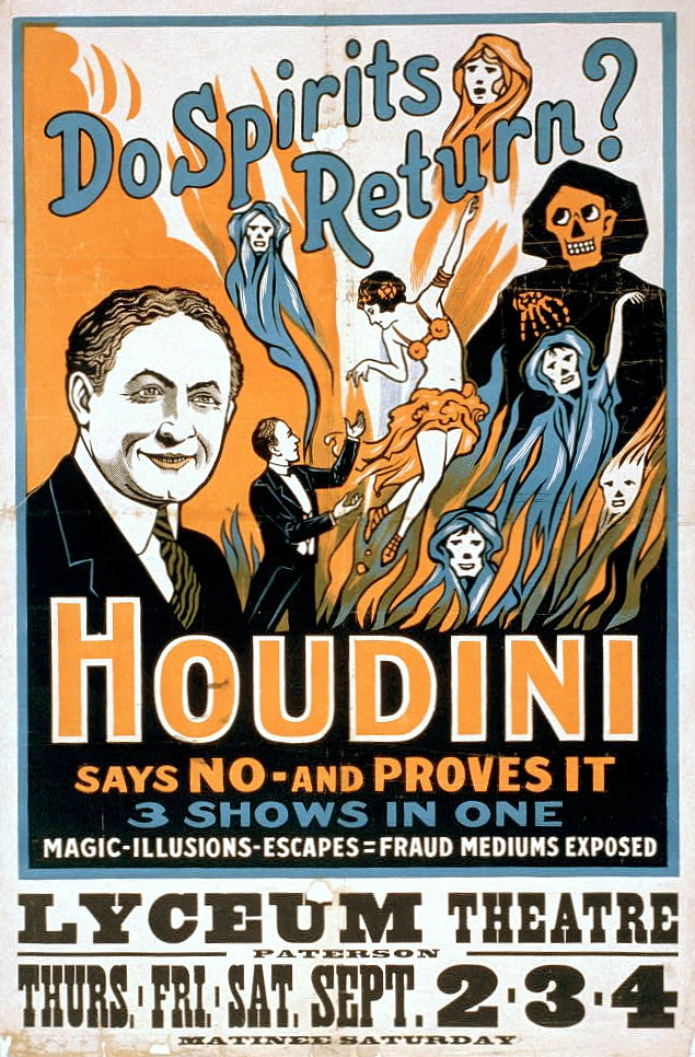 houdini_as_ghostbuster_performance_poster